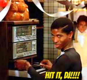 Lamar Latrell requesting that, DJ Herbert holler, play a song!
