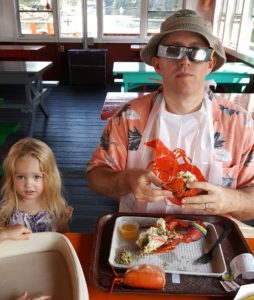 Herbert Holler loves lobsters and Maine and yacht rock and, most certainly, his darling little girls, one of which is pictured here!