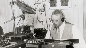 A picture of Reginald Fessenden, history's first official professional DJ!