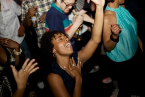 One of my favorite photos. This person on my dance floor was LOST in my music. G-d bless her!
