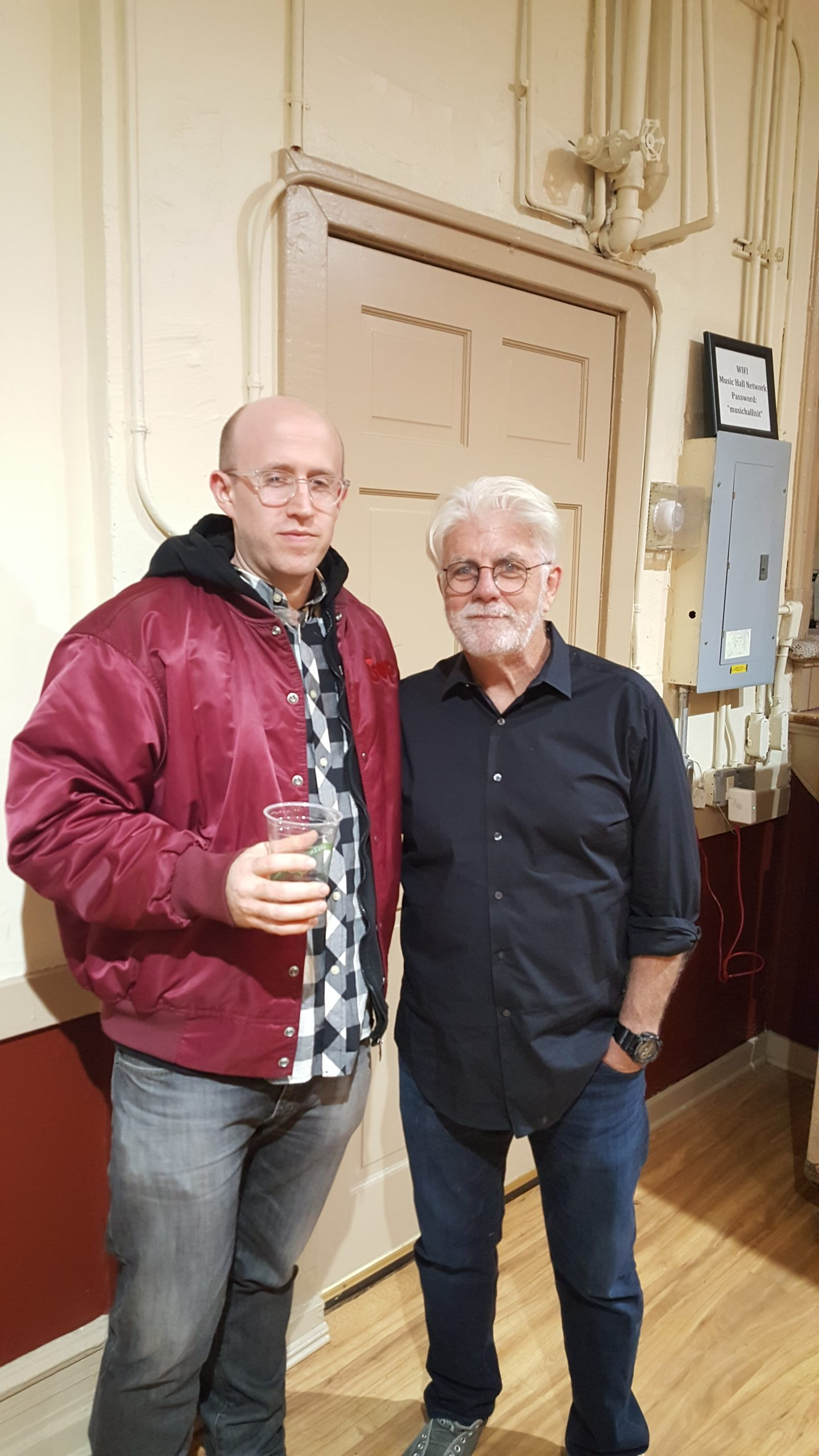 DJ Herbert Holler backstage at Tarrytown Music Hall with Michael McDonald