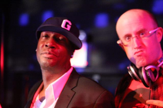 DJ Herbert Holler and Grandmaster Flash at the Freedom Party at le poisson rouge in NYC