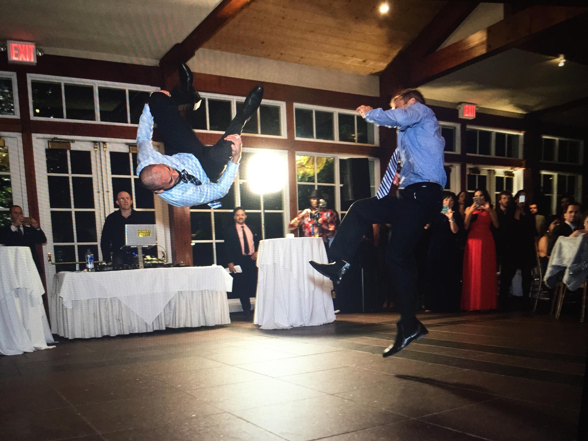 DJ Herbert Holler making the wedding dance floor flip out